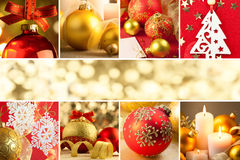 Christmas Decorations, Border - Background with copy space stock photos