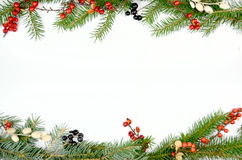 Christmas decorations. Border with a christmas decoration Stock Photos