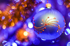 Christmas decorations on the branches fir Stock Image