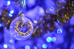 Christmas decorations on the branches fir Stock Photography