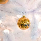 Christmas decorations on the branches of fir tree Stock Photos