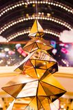 Christmas decorations on the branches of fir tree Royalty Free Stock Photography