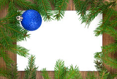 Christmas decorations  and branches of fir-tree Stock Photography