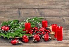 Free Christmas Decorations Burning Candles Holidays Background Stock Images - 132577424