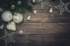 Christmas decorations with candles Stock Photography