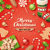 Christmas Decorations Card Royalty Free Stock Images