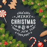 Christmas Decorations Card Stock Photo