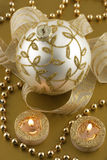 Christmas decorations with christmas baubles Stock Photos