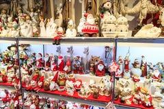 Christmas decorations at a Christmas market Royalty Free Stock Photo