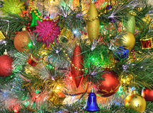 Christmas decorations on the Christmas tree Stock Photo