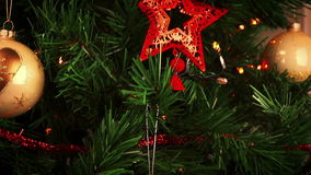 Christmas decorations. christmas tree background lights stock video footage