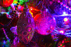 Christmas decorations on the Christmas tree, Christmas and New Y Royalty Free Stock Photo