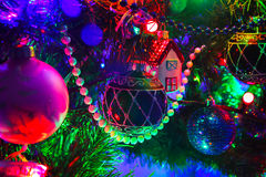 Christmas decorations on the Christmas tree, Christmas and New Y Royalty Free Stock Photography