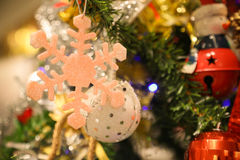 Christmas decorations or christmas tree light prepare for celebrate day, abstract Bokeh light good use for background Stock Image