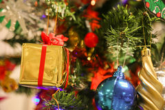 Christmas decorations or christmas tree light prepare for celebrate day, abstract Bokeh light good use for background Stock Photos