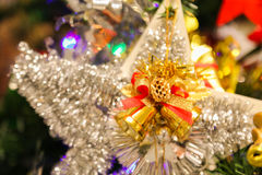 Christmas decorations or christmas tree light prepare for celebrate day, abstract Bokeh light good use for background Royalty Free Stock Photography