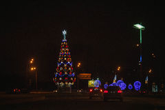 Christmas decorations of the city Royalty Free Stock Photo