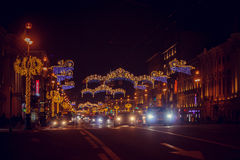 Christmas decorations of the city Stock Photography