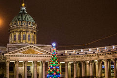 Christmas decorations of the city Stock Images