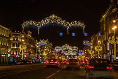 Christmas decorations of the city Royalty Free Stock Photos