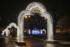 Christmas decorations of the city Stock Image