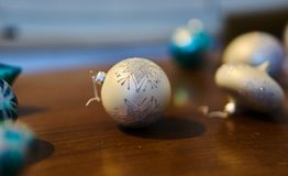 Christmas decorations. Close up of a christmas ball decoration Royalty Free Stock Photography
