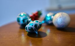 Christmas decorations. Close up of a christmas ball decoration Stock Images