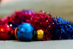 Christmas decorations. Close up of a christmas ball decoration Royalty Free Stock Photos