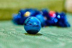 Christmas decorations. Close up of a christmas ball decoration Royalty Free Stock Image