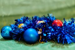 Christmas decorations. Close up of a christmas ball decoration Royalty Free Stock Photo
