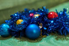 Christmas decorations. Close up of a christmas ball decoration Stock Image