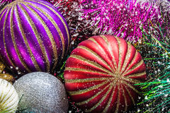 Christmas decorations close-up. Christmas picture. Stock Photos