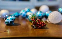 Christmas decorations. Close up of a christmas mistletoe decoration Royalty Free Stock Photos