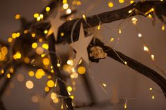 Christmas decorations close up royalty free stock image