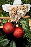Christmas decorations closeup Stock Photos