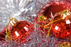 Christmas decorations closeup background Royalty Free Stock Image