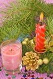 Christmas decorations closeup Royalty Free Stock Image
