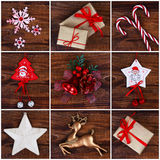 Christmas decorations collage Royalty Free Stock Photography