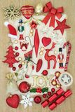 Christmas Decorations Collection Royalty Free Stock Images