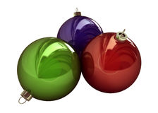 Christmas Decorations, Colored Balls Stock Photo