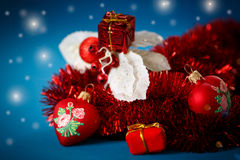 Christmas decorations colored Royalty Free Stock Photo