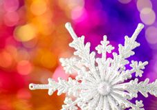 Christmas decorations on a colorful background. Royalty Free Stock Images