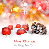 Christmas decorations and cone Royalty Free Stock Photos