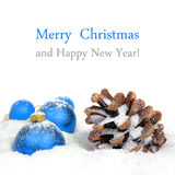 Christmas decorations and cone Royalty Free Stock Image