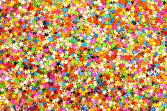 Christmas decorations confetti Stock Photos