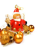 Christmas decorations with a copy space Stock Photography
