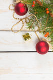 Christmas decorations. With copy space stock illustration