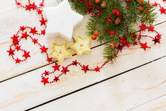 Christmas decorations. With copy space vector illustration