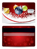 Christmas decorations credit card design Stock Photography