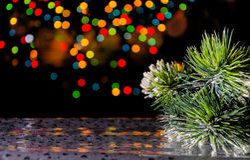 Christmas decorations in dark Stock Photos